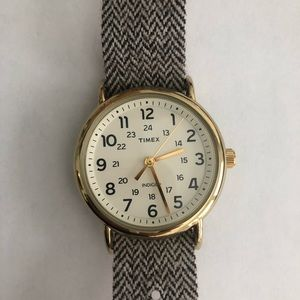 Brown herringbone 30m Times Weekender Watch